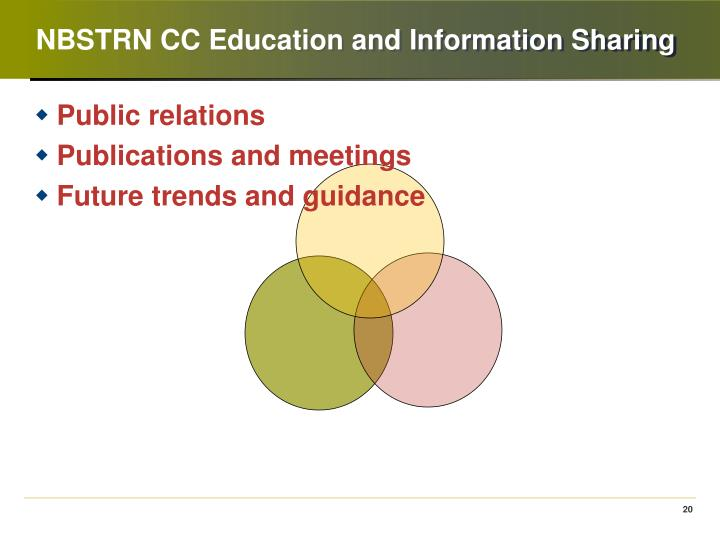 NBSTRN CC Education and Information Sharing