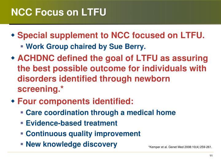 NCC Focus on LTFU