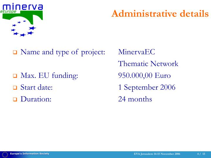 Name and type of project:MinervaEC