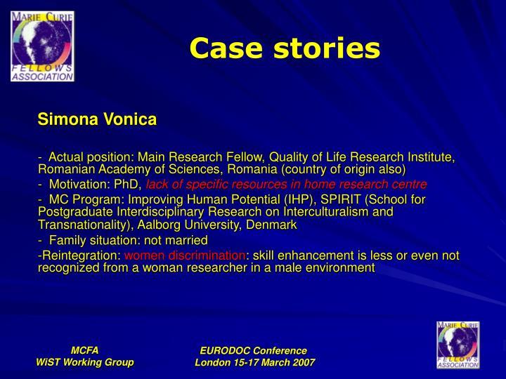 Case stories