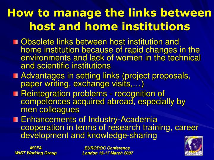 How to manage the links between