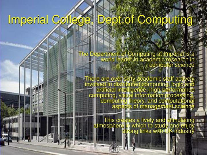 Imperial College, Dept.of Computing