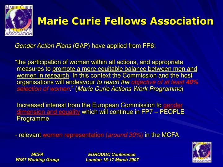 Marie Curie Fellows Association