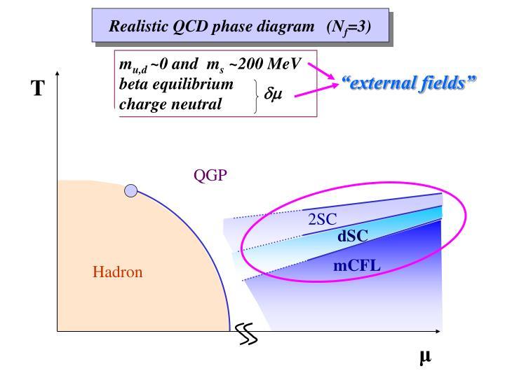 Realistic QCD phase diagram