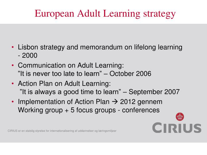 European Adult Learning strategy