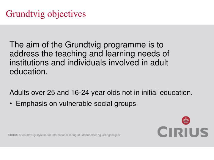 Grundtvig objectives