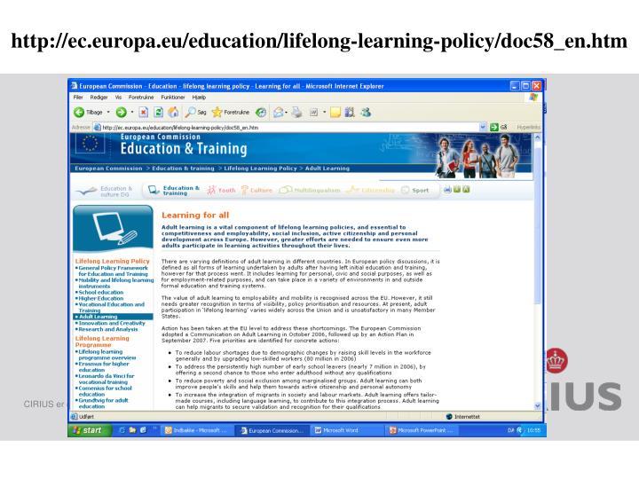 http://ec.europa.eu/education/lifelong-learning-policy/doc58_en.htm