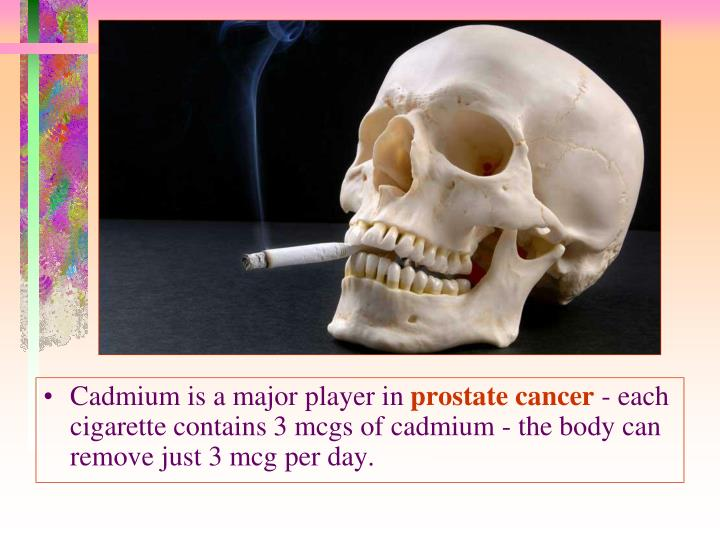 Cadmium is a major player in