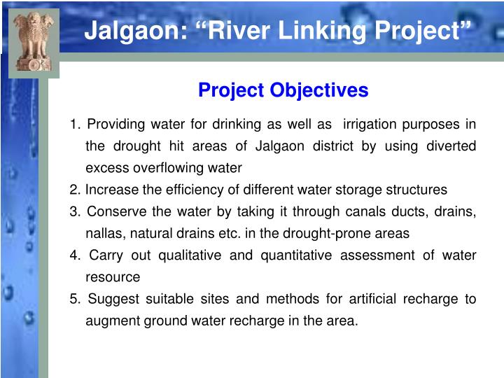 "Jalgaon: ""River Linking Project"""