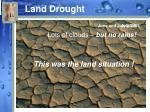 land drought