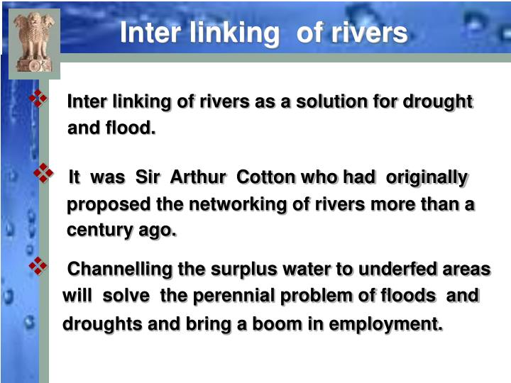 Inter linking  of rivers