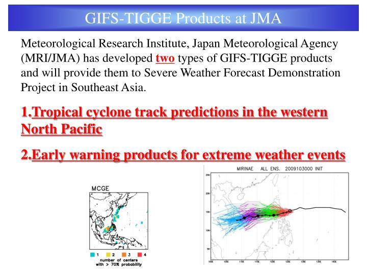 GIFS-TIGGE Products at JMA