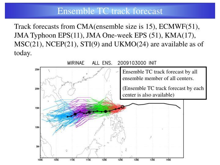 Ensemble TC track forecast