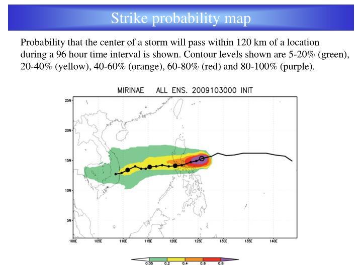 Strike probability map