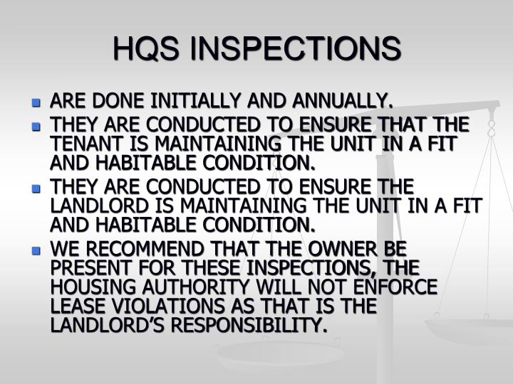 HQS INSPECTIONS