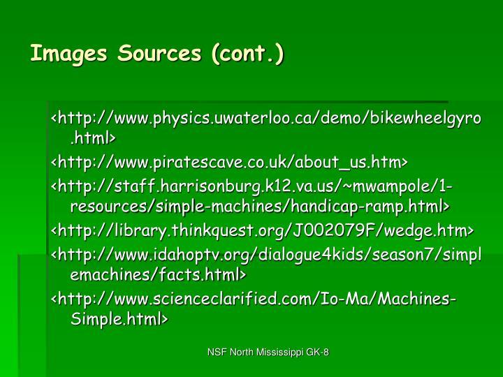 Images Sources (cont.)