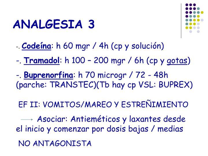 ANALGESIA 3
