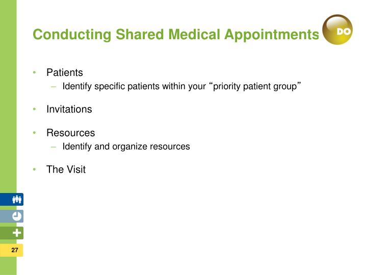 Conducting Shared Medical Appointments