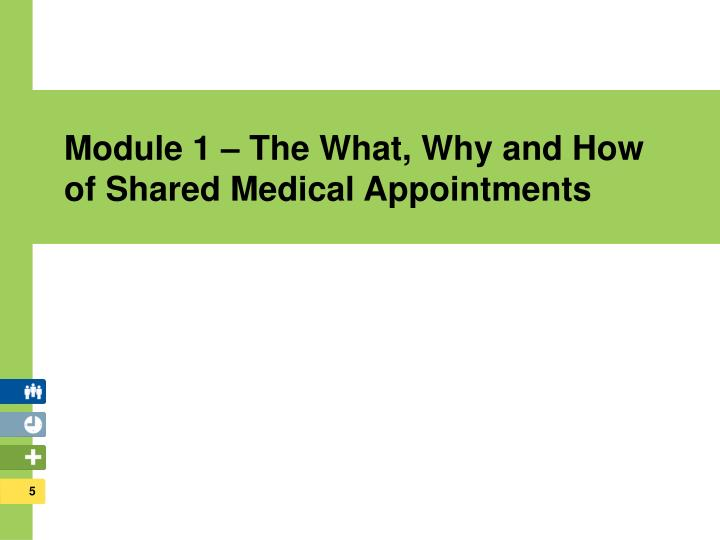 Module 1 – The What, Why and How of Shared Medical Appointments