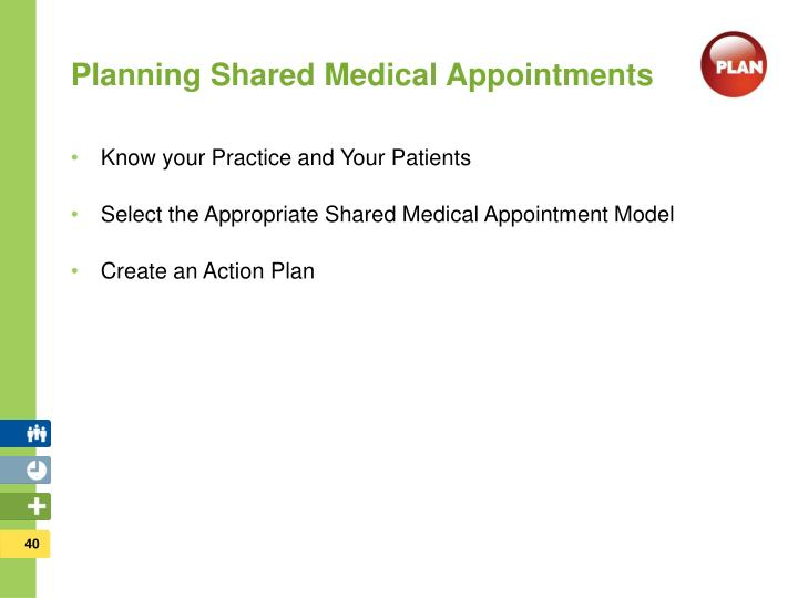 Planning Shared Medical Appointments