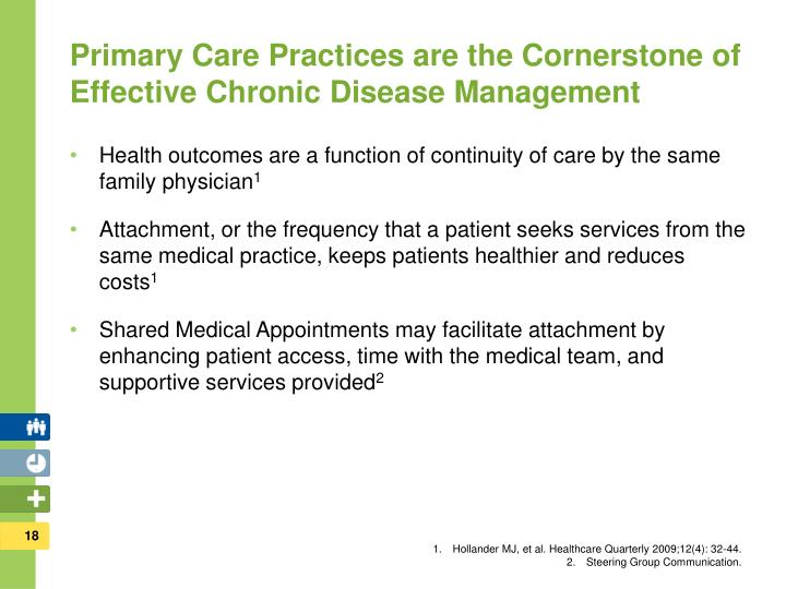 Primary Care Practices are the Cornerstone of Effective Chronic Disease Management