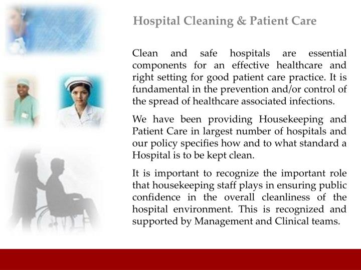 Hospital Cleaning & Patient Care
