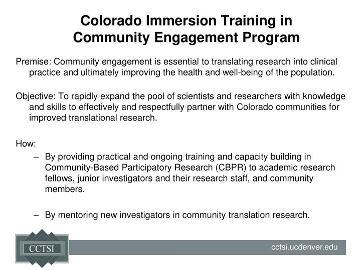 Colorado Immersion Training in