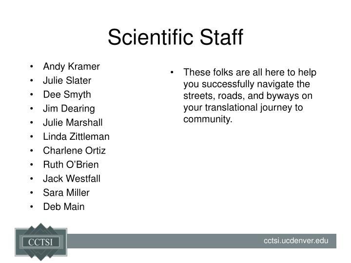 Scientific Staff