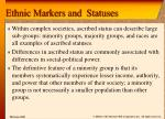 ethnic markers and statuses1