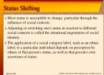 status shifting