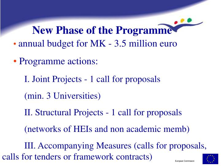 New Phase of the Programme