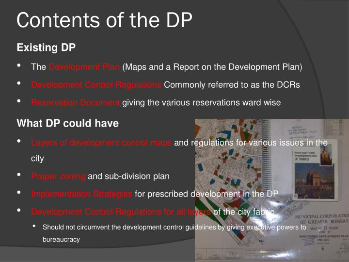 Contents of the dp