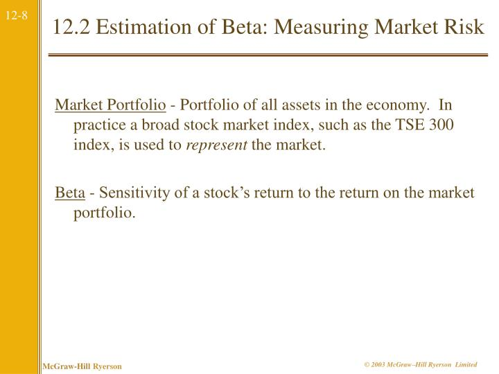 12.2 Estimation of Beta: Measuring Market Risk