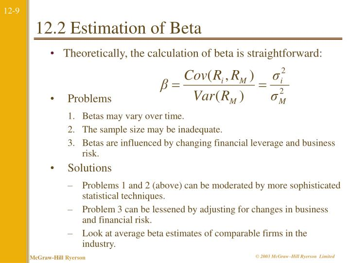12.2 Estimation of Beta