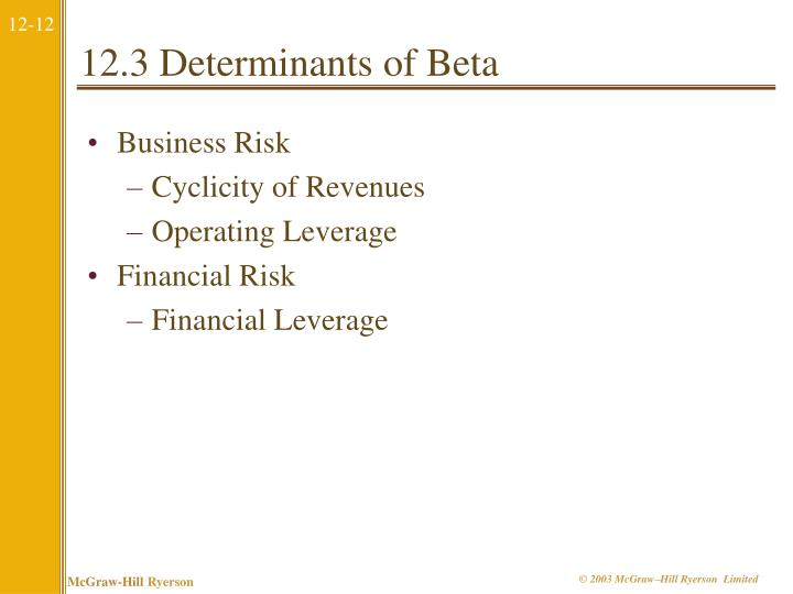 12.3 Determinants of Beta
