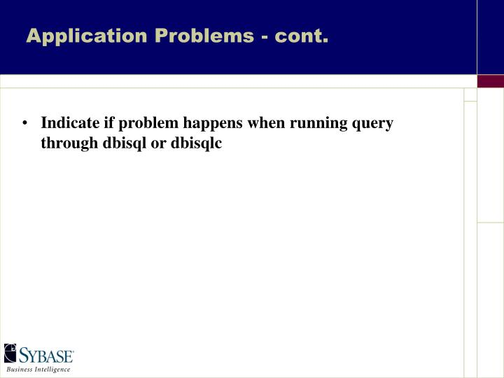 Application Problems - cont.