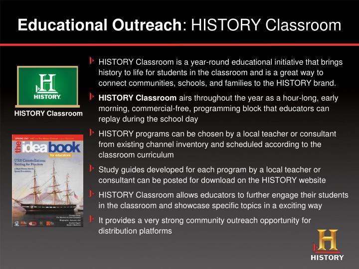 HISTORY Classroom