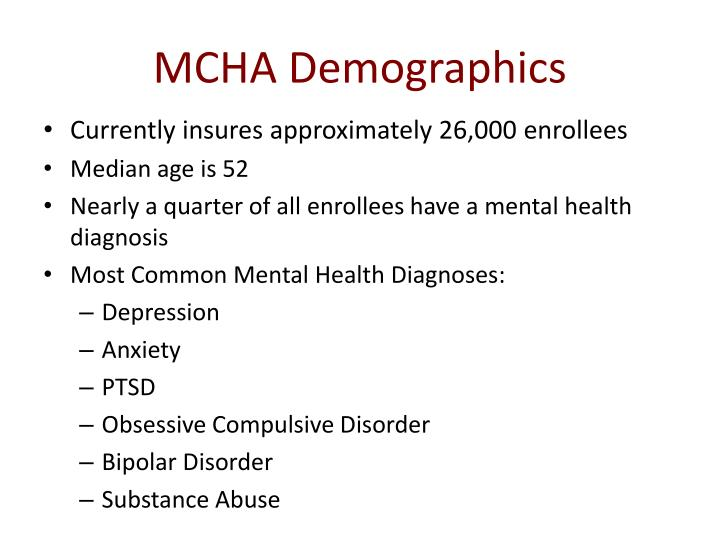 MCHA Demographics