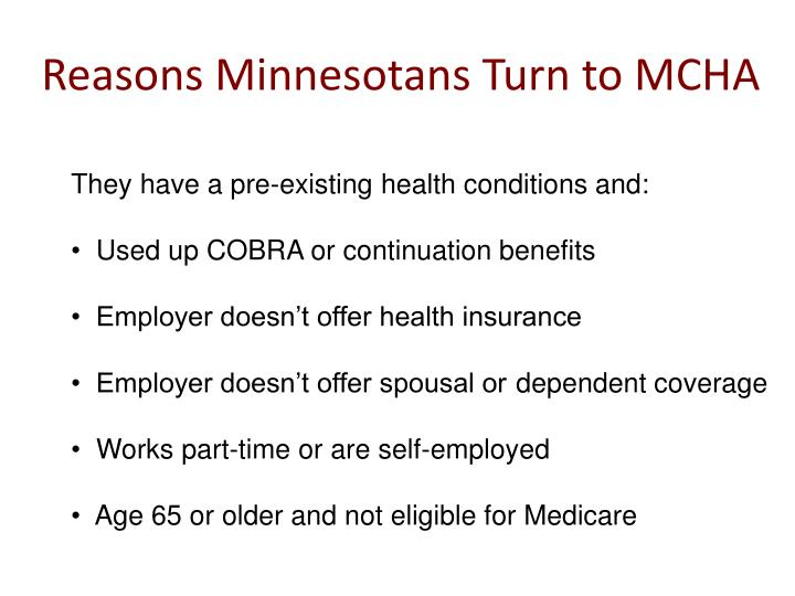 Reasons minnesotans turn to mcha