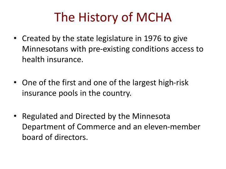 The history of mcha
