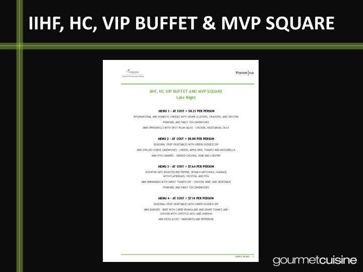 IIHF, HC, VIP BUFFET & MVP SQUARE