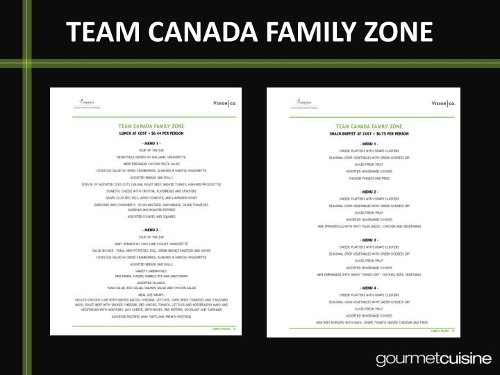 TEAM CANADA FAMILY ZONE
