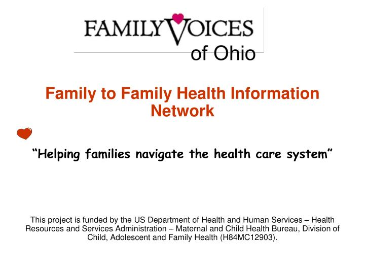 Family to Family Health Information Network