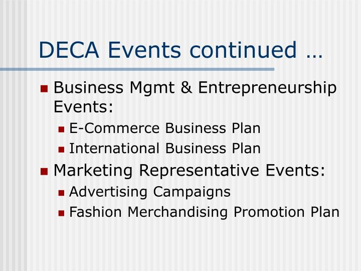 DECA Events continued …