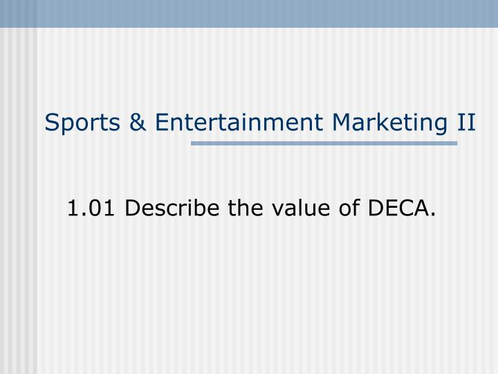 Sports entertainment marketing ii