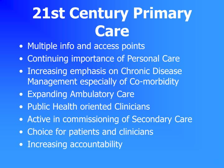 21st Century Primary Care