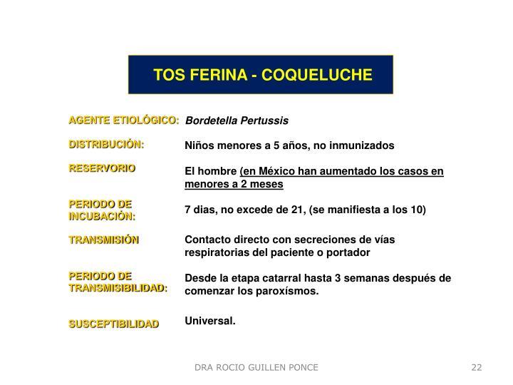 TOS FERINA - COQUELUCHE