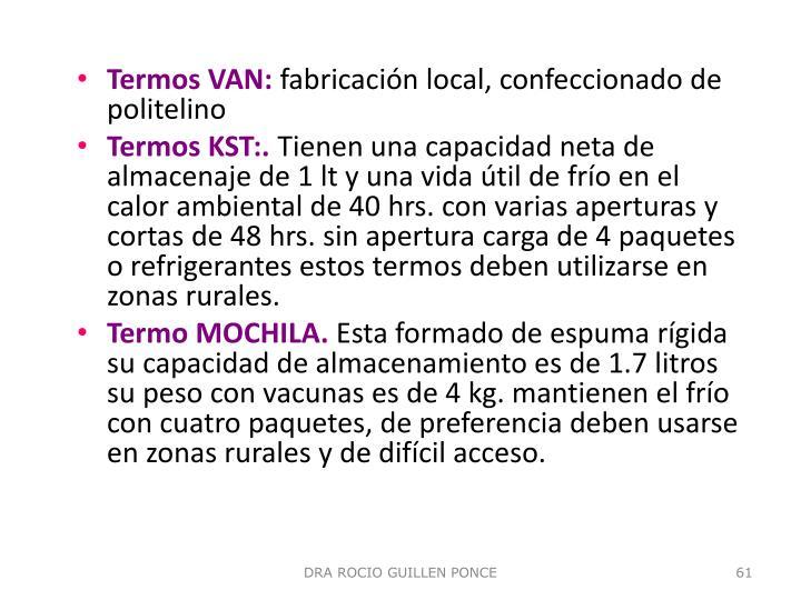 Termos VAN: