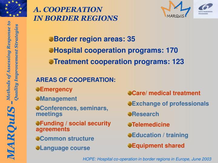 A. COOPERATION