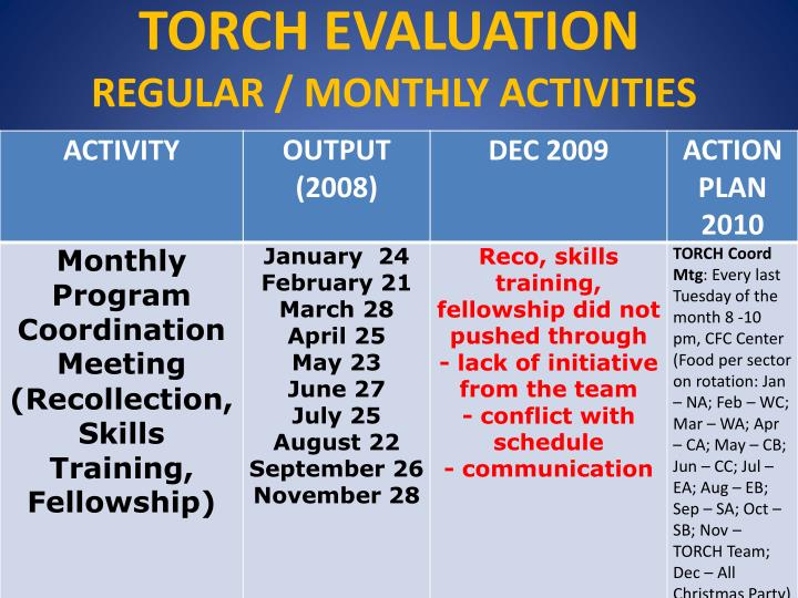 TORCH EVALUATION
